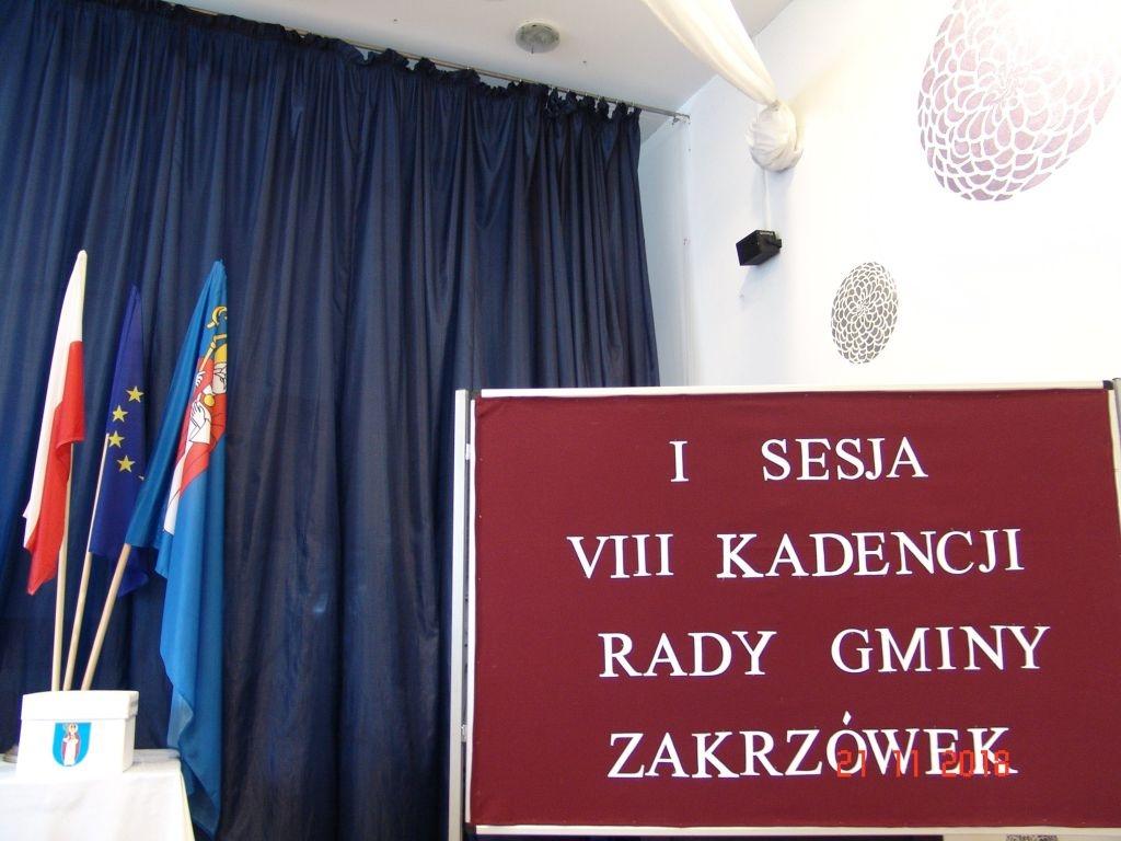 I sesja VIII kadencji Rady Gminy Zakrzówek – 21 listopada 2018 r.