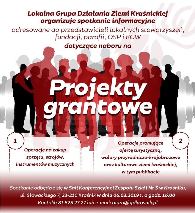 Zaproszenie na spotkanie dot. naboru na projekty grantowe!