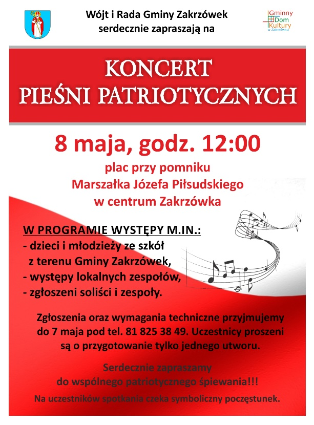 Koncert pieśni patriotycznych!