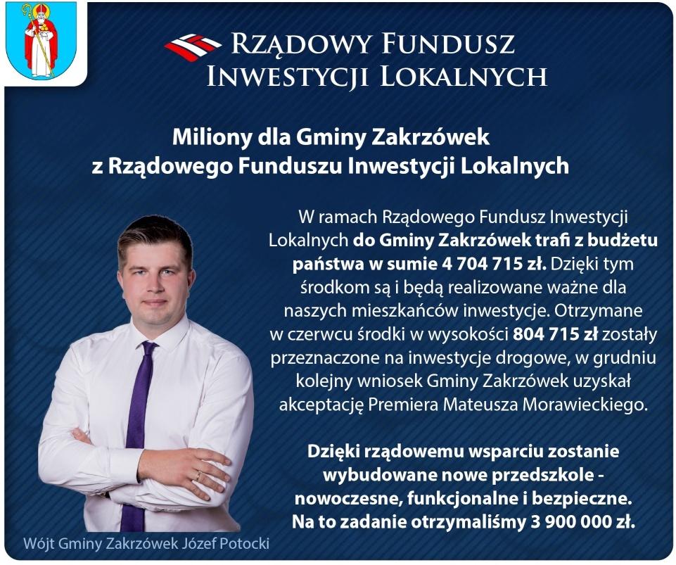 3 mln 900 tys. zł dla Gminy Zakrzówek na budowę przedszkola
