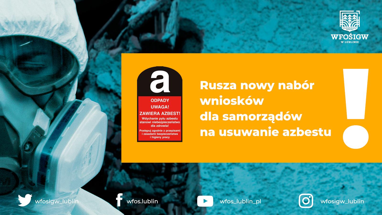 """""""Ogólnopolski program finansowania usuwania wyrobów zawierających azbest"""" na 2021 r."""