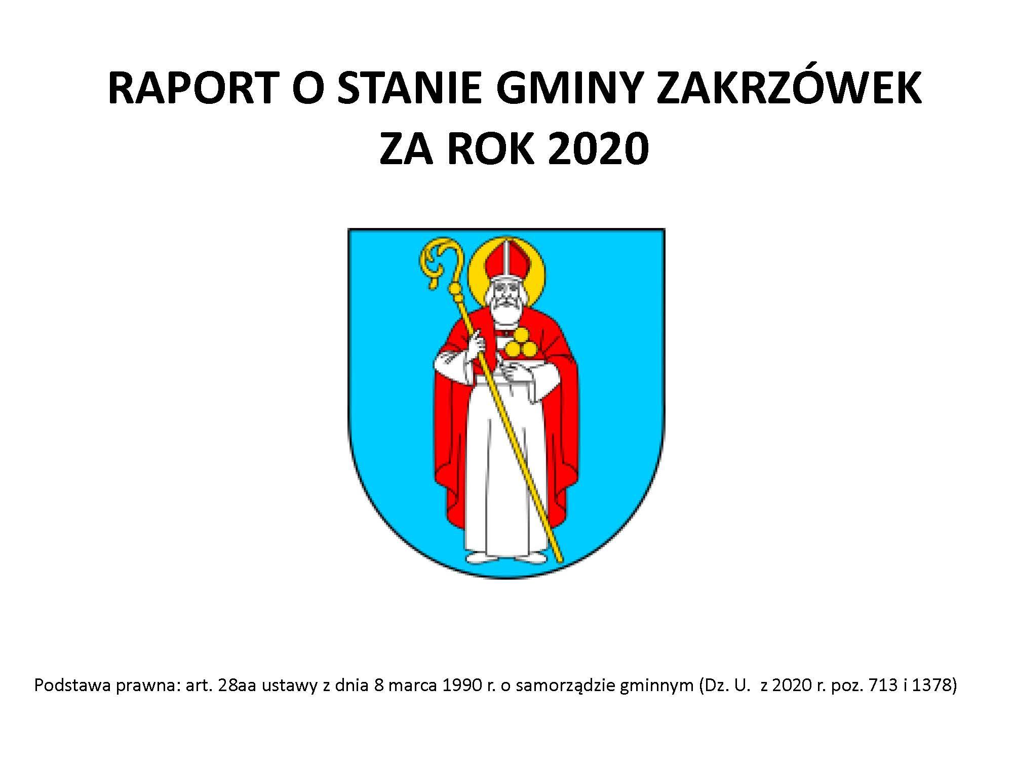 Raport o stanie Gminy Zakrzówek za rok 2020