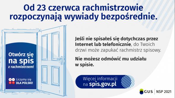 NSP 2021 – informacja o rozpoczęciu wywiadów bezpośrednich