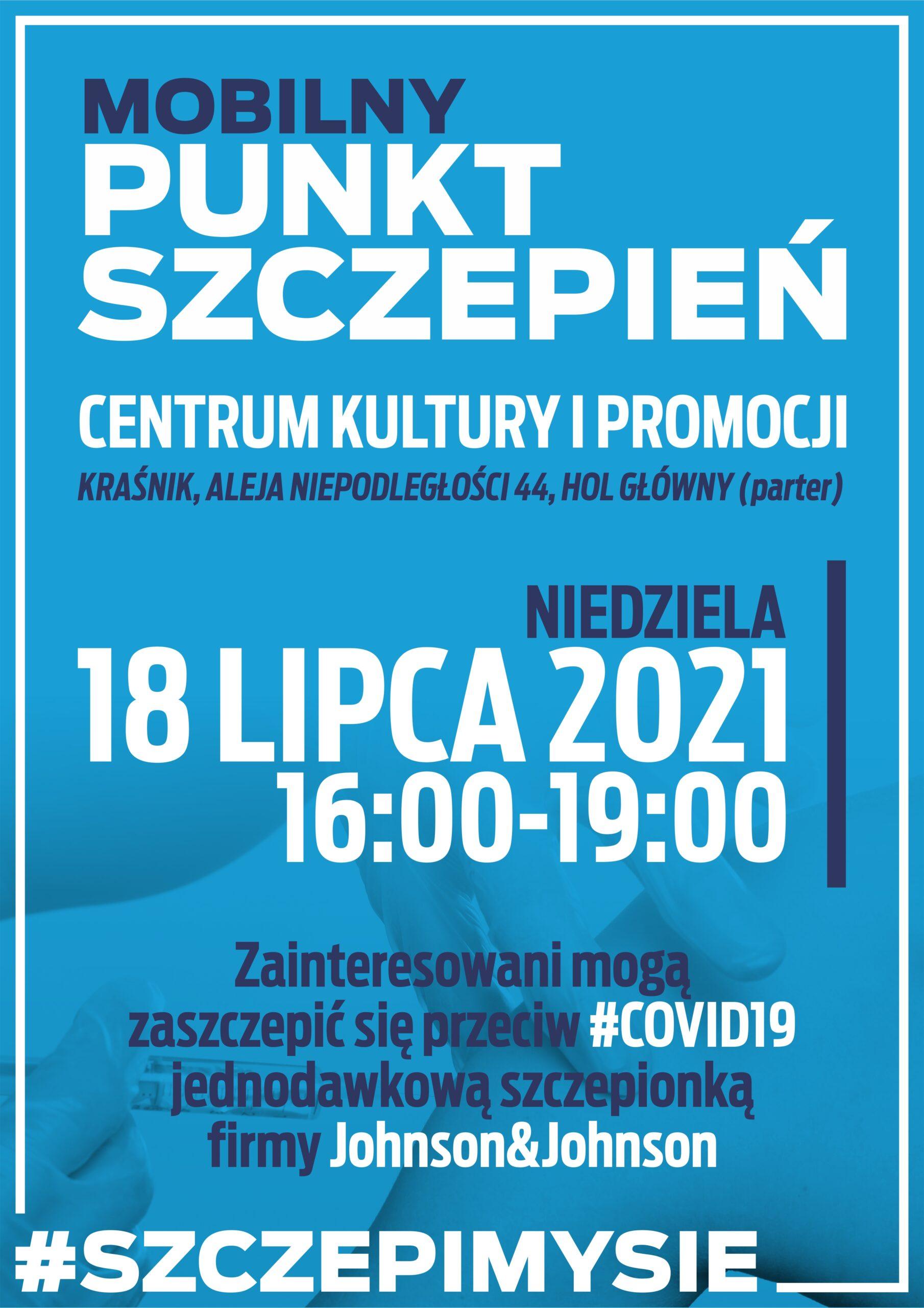 Mobilny punkt szczepień -CKiP w Kraśniku
