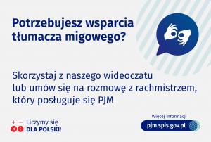 Jak skorzystać ze wsparcia tłumacza bądź rachmistrza posługującego się PJM?