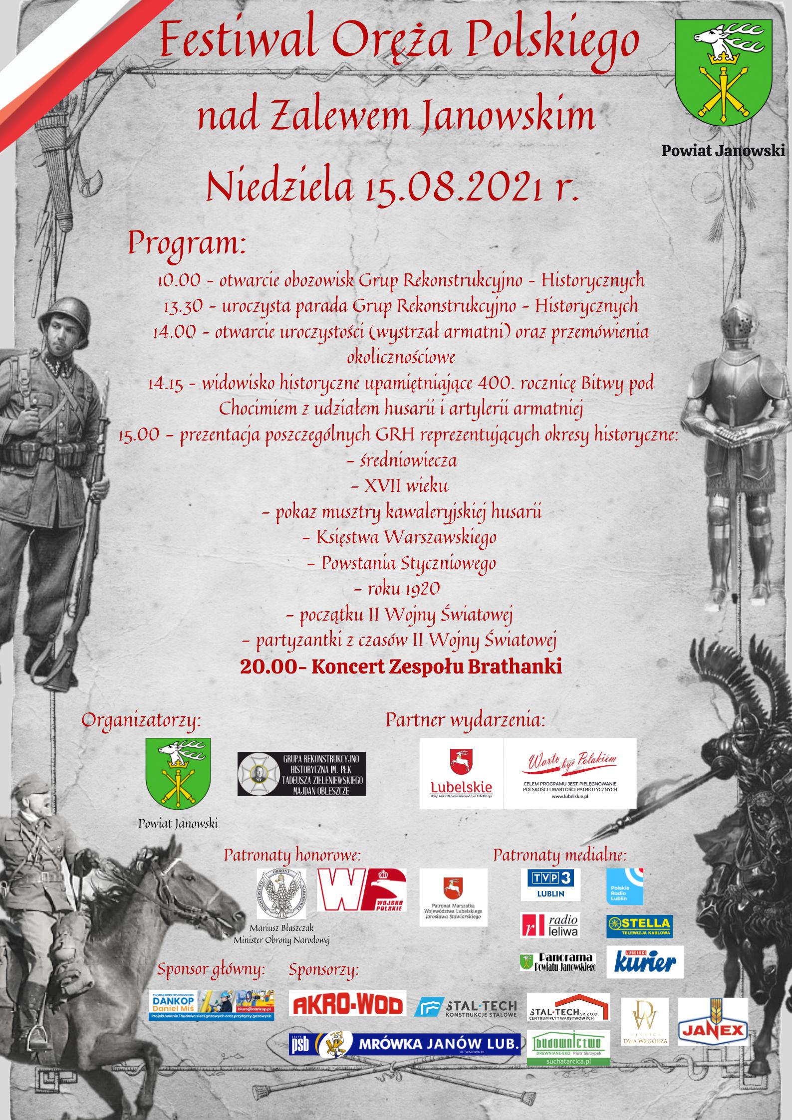 Festiwal Oręża Polskiego nad Zalewem Janowskim